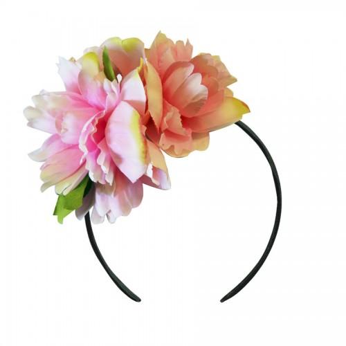 Diadema Flores Peonía